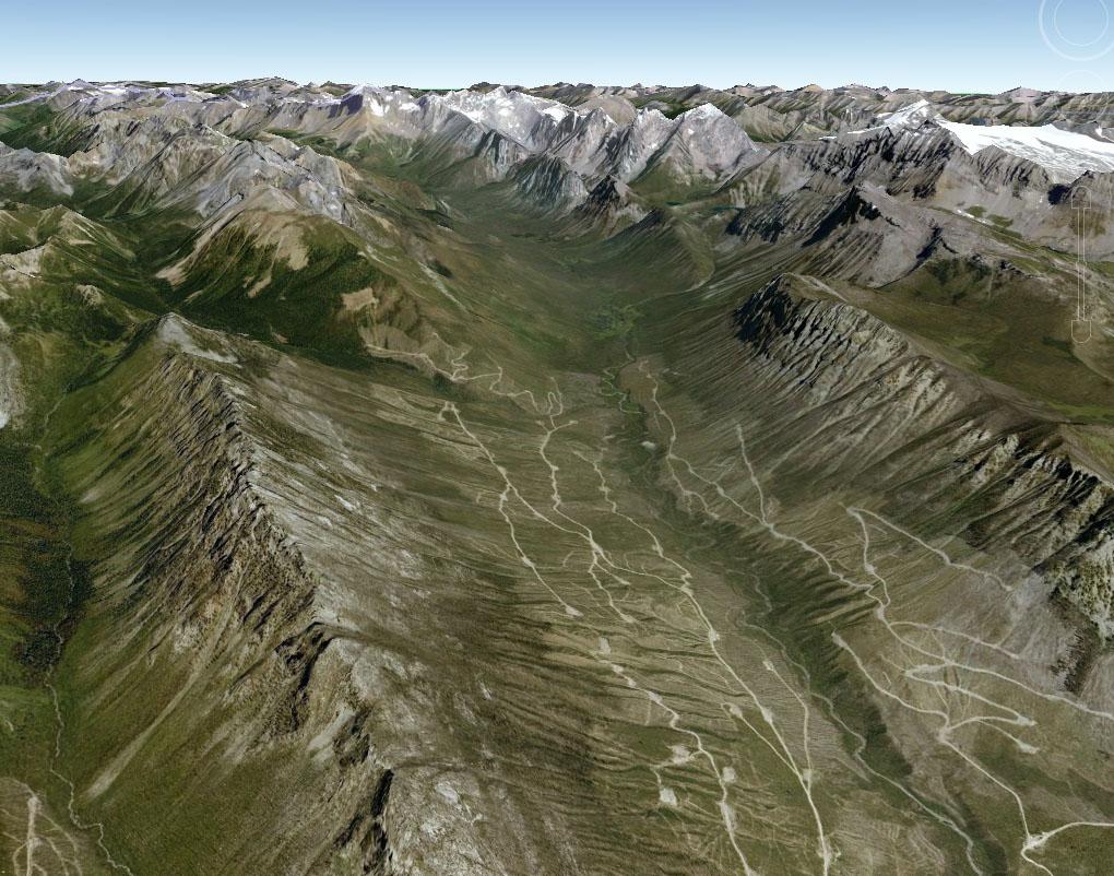 Estimated meteorite fall area (3D)