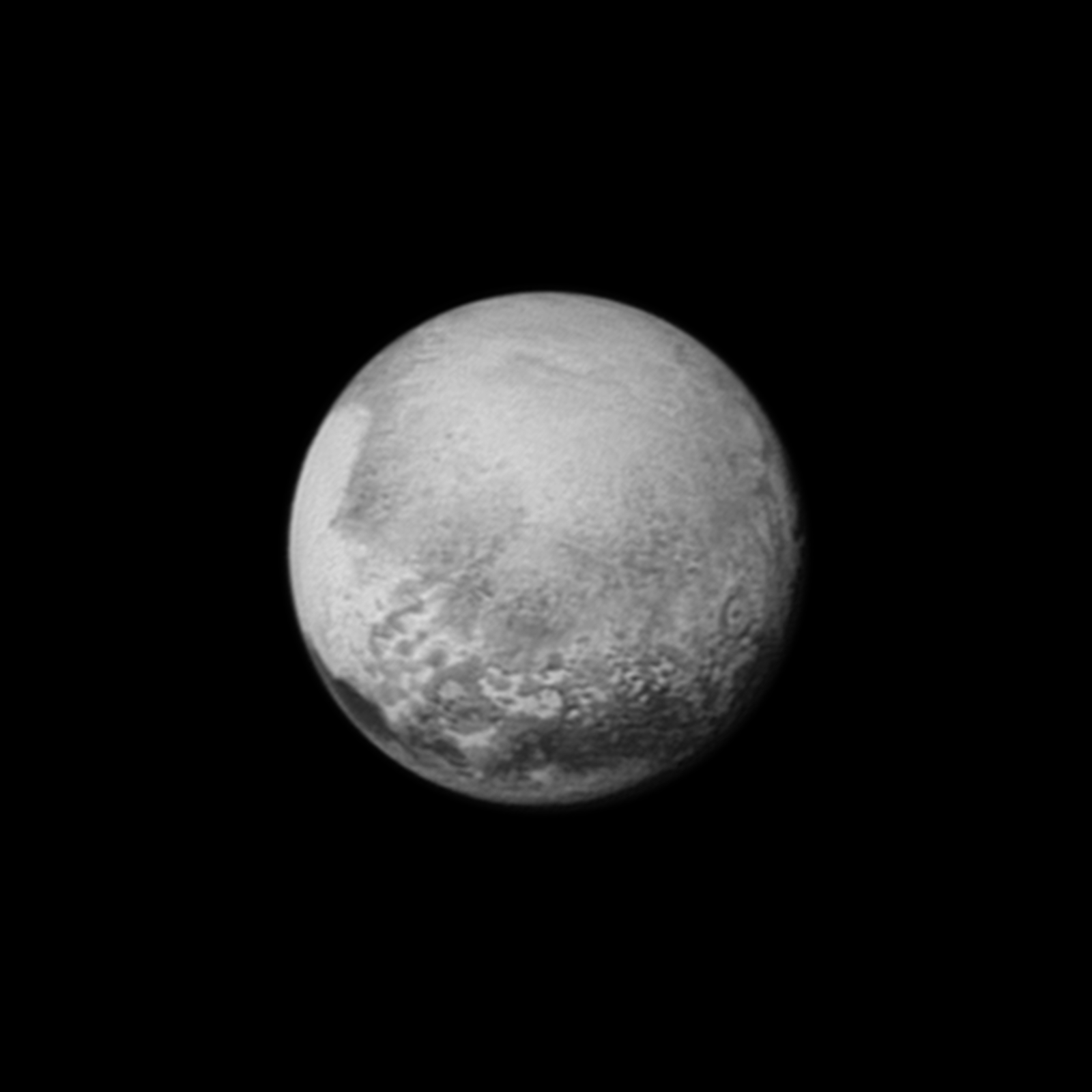 Pluto on July 12 from a distance of 1.6 million miles (2.5 million kilometers)