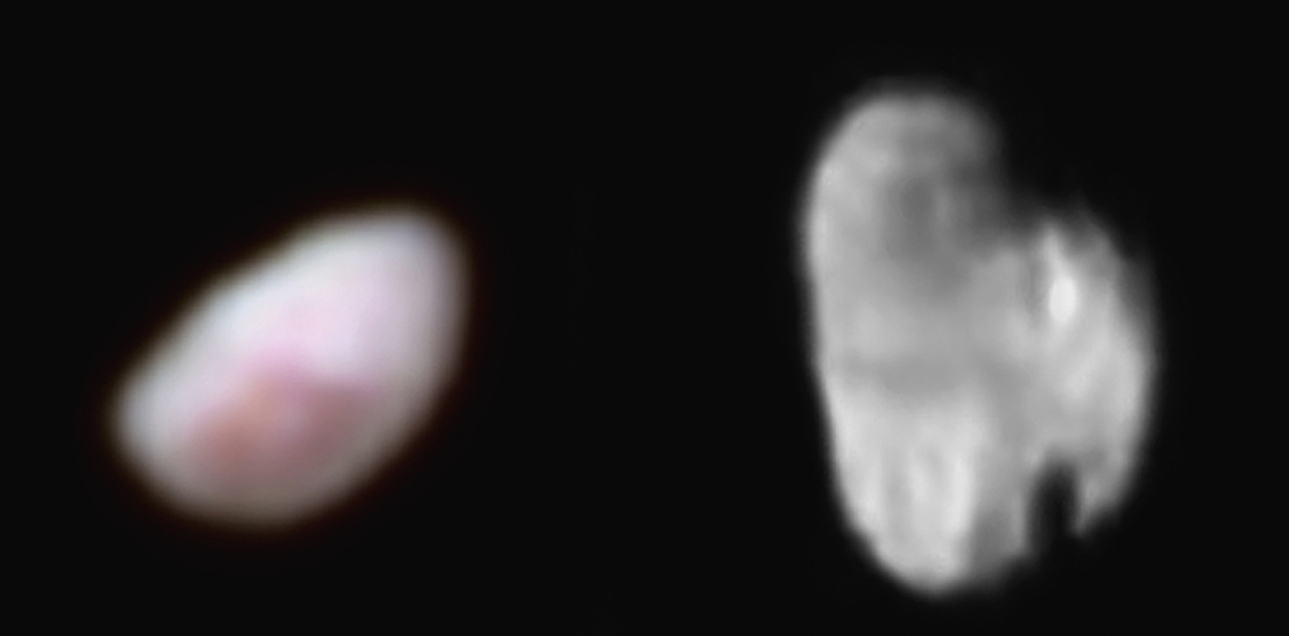 Pluto's moons Nix and Hydra / Credit: NASA/Johns Hopkins University Applied Physics Laboratory/Southwest Research Institute