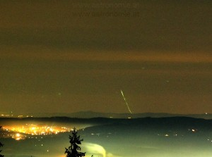 Close-up of the photo by Erwin Filimon at the observatory Gahberg in Austria (871.5 km from the impact location of the Herlev mass) / Photo: Erwin Filimon