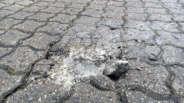 Exact impact site of second meteorite found / photo: TV2