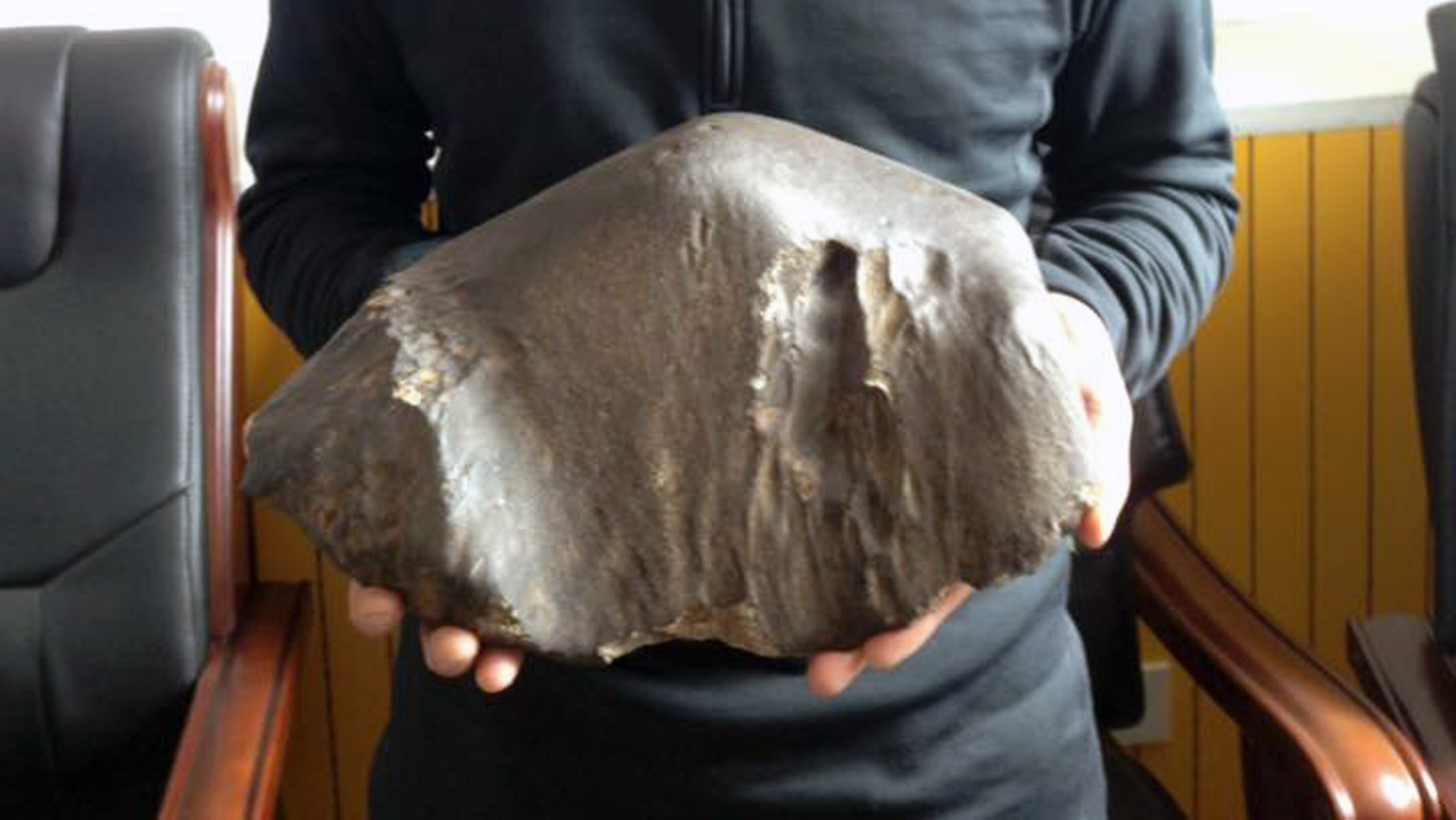 The meteorite / Photo: Zhāng Bó (张勃)
