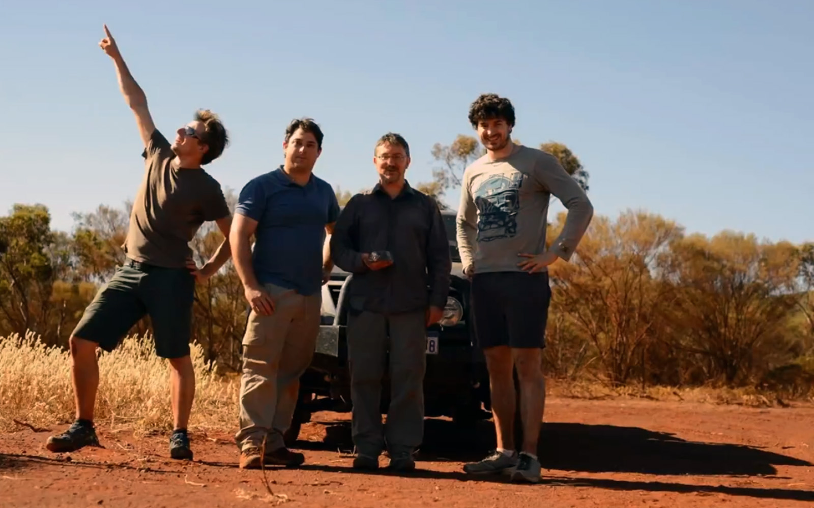 Morawa meteorite recovery team. / Photo: Curtin University